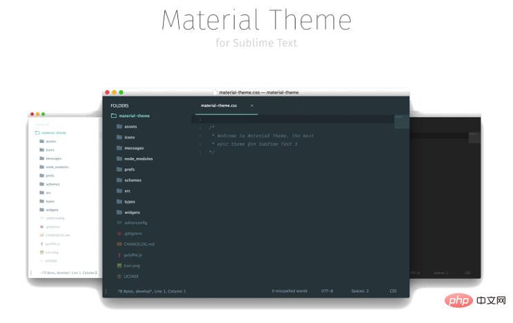 Github最受欢迎的Sublime Text3 Material theme 主题、字体-不问归期_